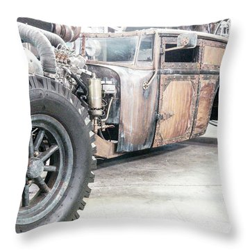 Rusty Crusty With Power Throw Pillow