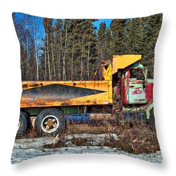 Rusty Dump Truck Throw Pillow