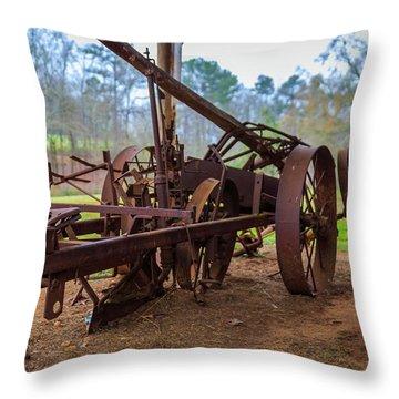 Rusty Farming Throw Pillow
