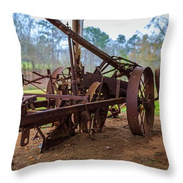 Rusty Farming Throw Pillow