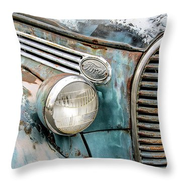 Rusty Ford 85 Truck Throw Pillow by David Lawson
