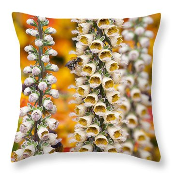Foxglove Flowers Throw Pillows