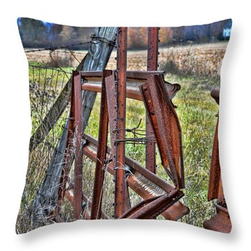 Rusty Gate Throw Pillow by Pat Cook
