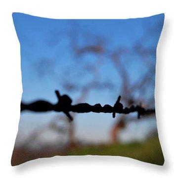 Throw Pillow featuring the photograph Rusty Gate Rural Tree by Matt Harang