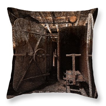 Rusty Grunge Mill Throw Pillow