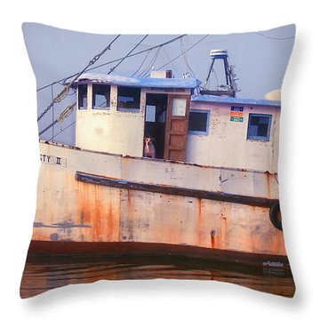 Rusty II And Crew Throw Pillow