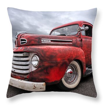 Rusty Jewel - 1948 Ford Throw Pillow