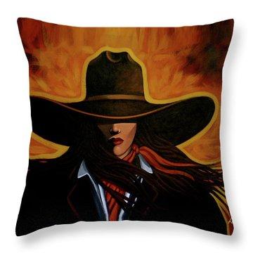 Rusty Throw Pillow by Lance Headlee