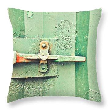 Rusty Latch Throw Pillow