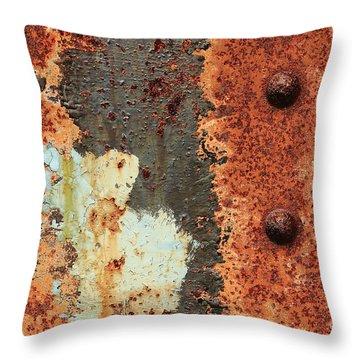 Rusty Layers Throw Pillow