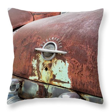 Rusty Line-up Throw Pillow