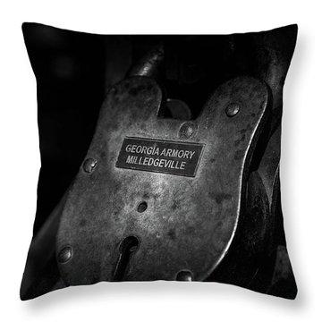 Rusty Lock In Bw Throw Pillow
