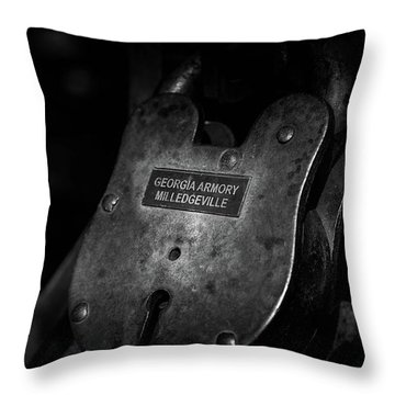 Rusty Lock In Bw Throw Pillow