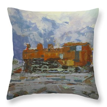 Rusty Loco Throw Pillow by David Gilmore