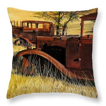 Rusty Meadows Throw Pillow
