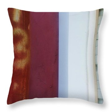 Rusty Numbers II Throw Pillow by Anna Villarreal Garbis