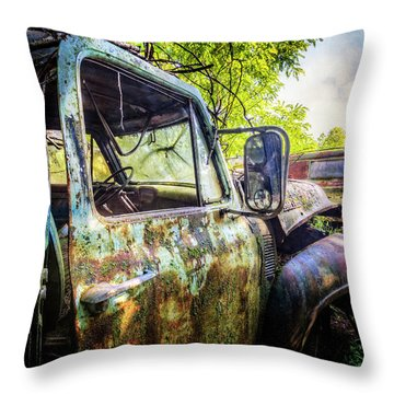 Rusty Old Ford Truck Throw Pillow