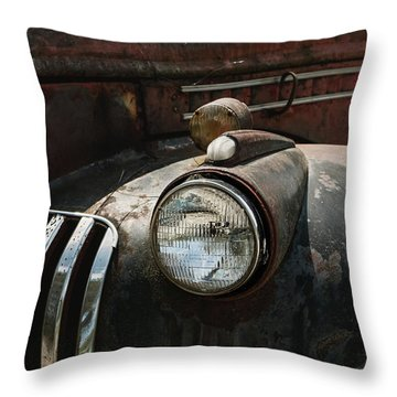 Throw Pillow featuring the photograph Rusty Old Headlight  by Kim Hojnacki
