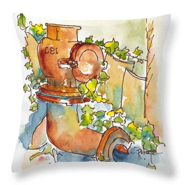 Rusty Relic Throw Pillow by Pat Katz