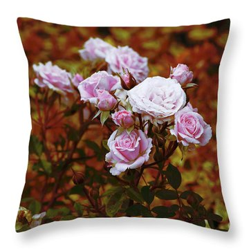 Rusty Romance In Pink Throw Pillow