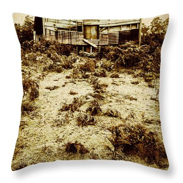 Rusty Rural Ramshackle Throw Pillow