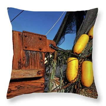 Rusty Shrimping Throw Pillow