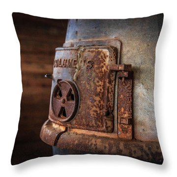 Rusty Stove Throw Pillow