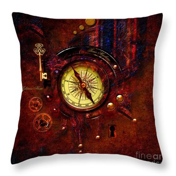 Rusty Time Machine Throw Pillow