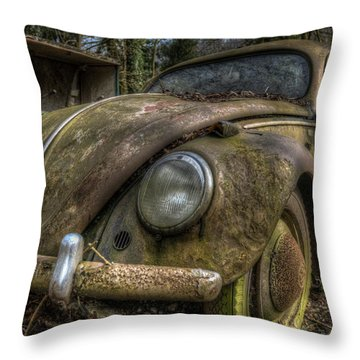 Rusty Vee Dub  Throw Pillow by Nathan Wright