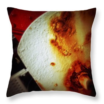 Throw Pillow featuring the photograph Rusty Winch by Olivier Calas