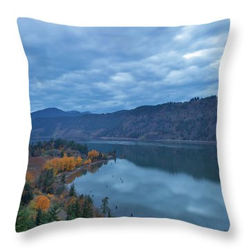 Ruthton Point During Evening Blue Hour Throw Pillow