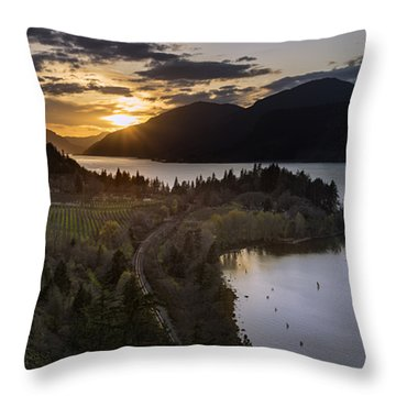 Ruthton Springtime Sunset Throw Pillow