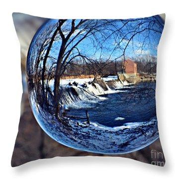 Rutland Dam Two Throw Pillow