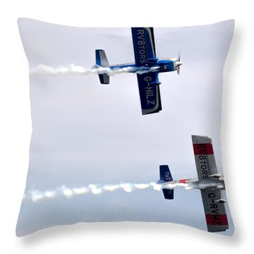 Throw Pillow featuring the photograph Rv8tors Side By Side by Scott Lyons