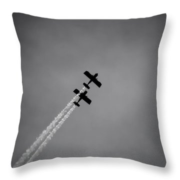 Throw Pillow featuring the photograph Rv8tors Silhouette Sunderland Air Show 2014 by Scott Lyons