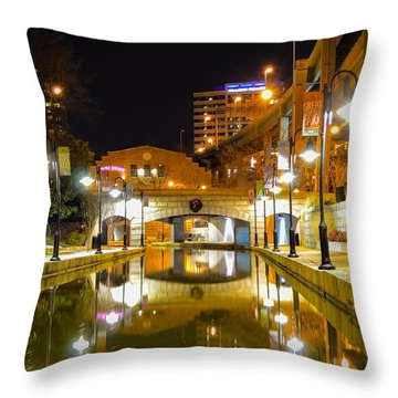 Rva Canal Walk Throw Pillow