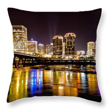 Rva Holiday Skyline 3 Throw Pillow