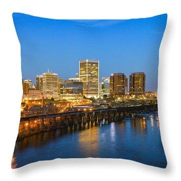 Rva Night Throw Pillow