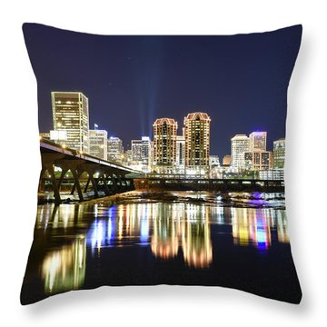 Rva Night Lights Throw Pillow
