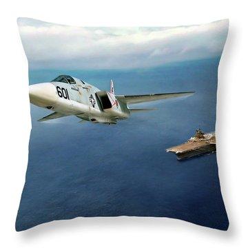 Rvah-1 Smokin Tigers Throw Pillow