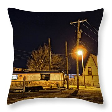 Rving Route 66 Throw Pillow