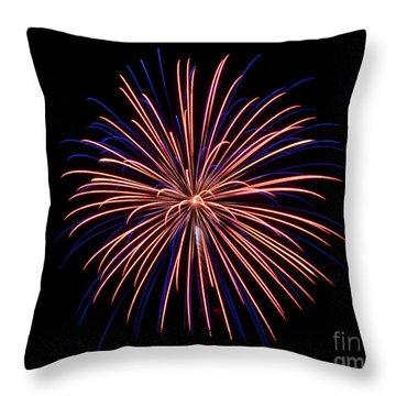Rvr Fireworks 48 Throw Pillow by Mark Dodd