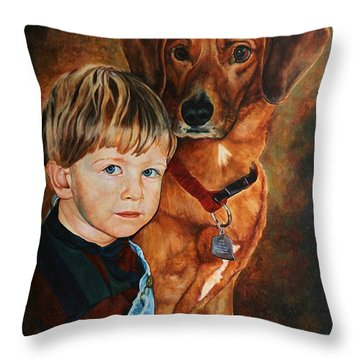 Ryan And Moses Throw Pillow
