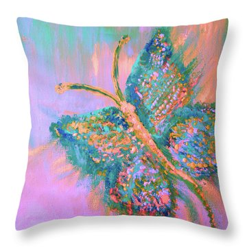 Ryans Butterfly Throw Pillow