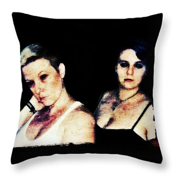 Throw Pillow featuring the digital art Ryli And Alex 1 by Mark Baranowski