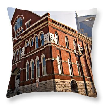 Throw Pillow featuring the photograph Ryman Auditorium Nashville by Bob Pardue