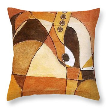 Rythm Of Unity Throw Pillow