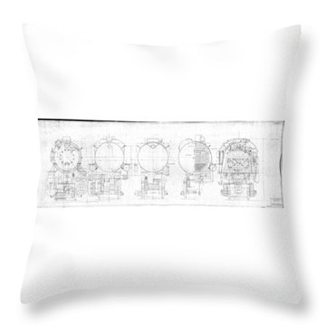 S-1a Cross Sections Throw Pillow