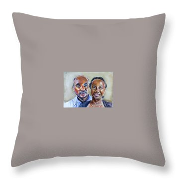 S And D Throw Pillow by Renuka Pillai