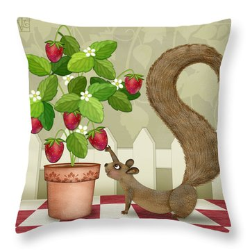 S Is For Squirrel Throw Pillow